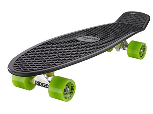 Ridge Skateboard Big Brother Nickel 69 cm Mini Cruiser, schwarz /grün Ridge Cup