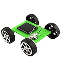 Whiie891203 Mini DIY Solar Panel Powered Car Vehicle Model Kids Science Educational Toy for Kids and Adults, Birthday & Christmas Gift