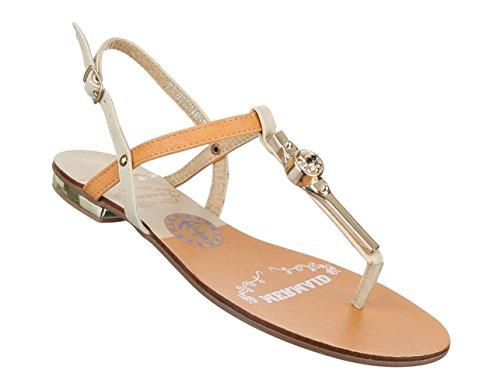 Damen Sandalen Schuhe Sommerschuhe Strandschuhe Zehentrenner Schwarz Beige 36 37 38 39 40 41 Beige