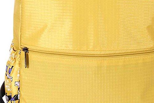 FZHLY Sacchetto Di Spalla Dei Nuovi Studenti Tre Set Di Sacchetto Di Viaggio Di Svago Di Modo,Yellow BlueThree-piece