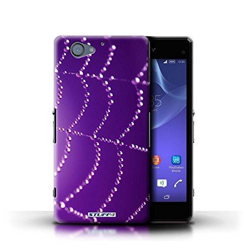 Kobalt® Imprimé Etui / Coque pour Sony Xperia A2 / Orange conception / Série Toile d'araignée Perles Pourpre
