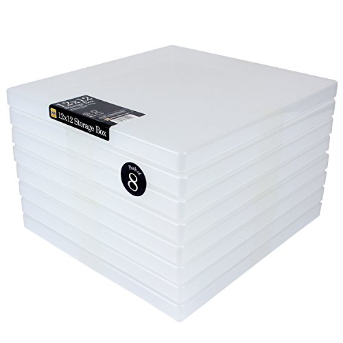WestonBoxes 12 x 12 Scrapbook Papier Aufbewahrungsbox, transparent (8 Stück)