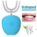 Siqdak Brosse à dents électrique à ultrasons pour enfants avec 4 vitesses, brosse à dents de type U brosse à dents automatique spécialement conçue pour les enfants, convient aux enfants de 7 à 13 ans