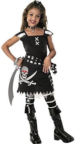 Rubie's - Costume per travestimento da Piratessa Horror, Bambina, M (5-7 anni)