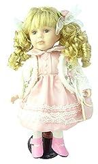 Idea Regalo - TOYLAND Bambola di Porcellana 45cm in Abito Rosso e Bianco - Giocattoli per Ragazze