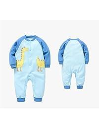 Neonatal vêtements conjoints printemps et automne bleu coton à manches longues vêtements sauvages pour bébés sauvages , 59cm