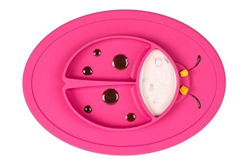 Qshare - mini tovaglietta in silicono 28x20x2.5cm, una ciotola ad un pezzo per neonati, bambini e bambini più cresciuti, Portatile Libera di BPA Stoviglia approvata dalla FDA