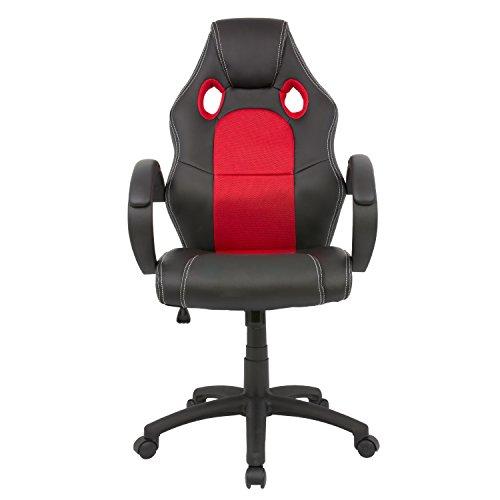Cashoffice - Silla Racing - Silla Gaming - Silla Gamer - Silla Ordenador Ergonómica - Silla de Oficina - Varios Colores (Rojo)