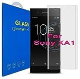 Sony Xperia XA1 ( 5 Pulgada ) Curvo 3D Cristal Templado Protector de Pantalla, 3D completo borde curvado [ borde a borde ] para Sony Xperia XA1 / Sony Xperia XA1 Dual ( 5 pulgada )(Clear)