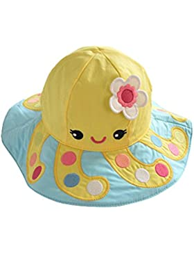 Genda 2Archer Lovely Fumetto bambino scherza Cappello da sole 100% cotone Sun Protection Berretto estate con Tesa...