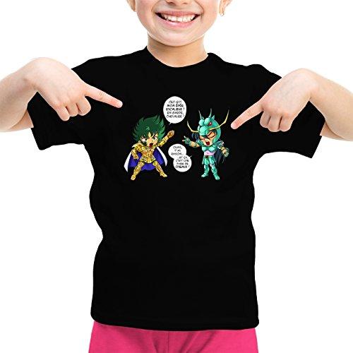 T-Shirts Saint Seiya - Les Chevaliers du Zodiaque parodique Shura Chevalier d'or du Capricorne Shiryu du Dragon : J't'AI cassé là ! (Parodie Saint Seiya - Les Chevaliers du Zodiaque)