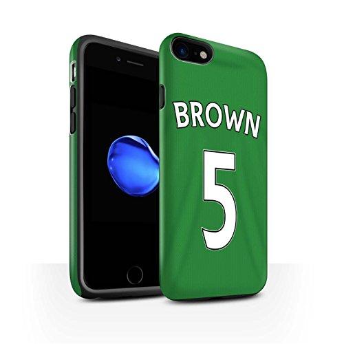 Officiel Sunderland AFC Coque / Matte Robuste Antichoc Etui pour Apple iPhone 7 / Jones Design / SAFC Maillot Extérieur 15/16 Collection Brown