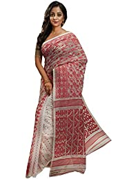 Avik Creations Silk Cotton Saree Without Blouse Piece (Jamag16_Red_Free Size)
