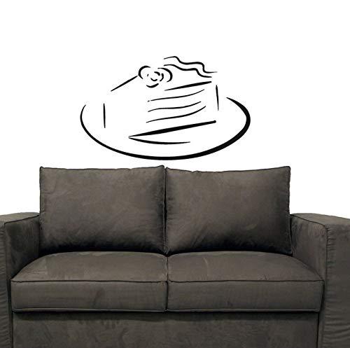 Dalxsh Süße Kuchen Geburtstag Pie Wandaufkleber Küche Cafe Home Interior Design Vinyl Aufkleber Aufkleber Kinder Baby Room DecorWandtattoos 27X44 Cm