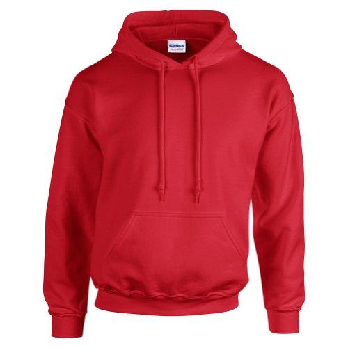 Gildan–felpa pesante con cappuccio red taglia unica
