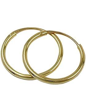 ASS 333 Gold Topmodische Damen Kinder Ohrringe Creolen 11 mm
