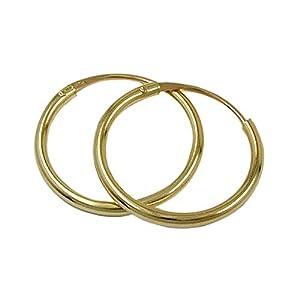 ASS 333 Gold winzig kleine Kinder Ohrschmuck Ohrringe Creolen 9 mm / 1,50 mm