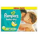 Pampers Baby Dry Size 4 (7-18kg) Mega Pack x 86 per pack