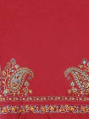 Weavers Villa Women's 100% Soft Viscose Shawls, Scarf, Stoles- Red