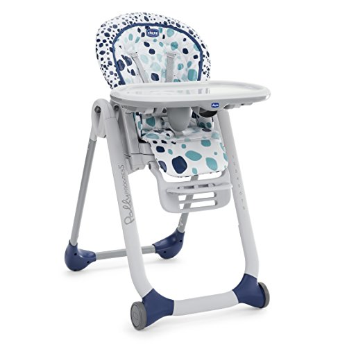 Chicco Polly Progres5   Trona evolutiva para niños de 0 a 3 años, azul estampado