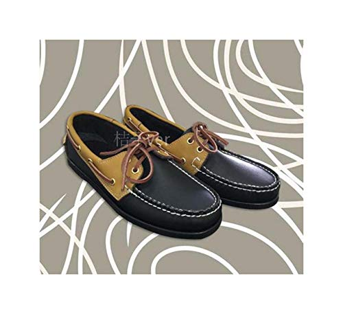 Mens Casual PU Leather Docksides Deck Lace Up Moccain Boat Loafers Shoes Driving Fashion Unisex Plus Size 22Colors 2 45 -