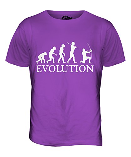 CandyMix Bogenschießen Bogenschütze Evolution Des Menschen Herren T Shirt Violett