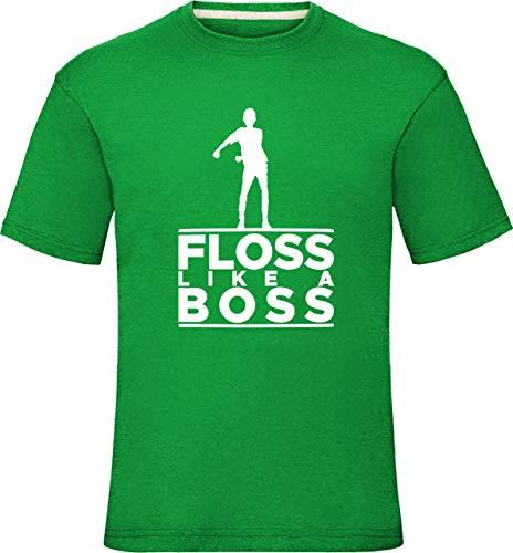 Floss Like A Boss Shirt Floss wie EIN Chef Tanz Jungen Herren T-Shirt Battle Schlacht Royale Kinder Kleinkinder Hemden 5-6 Jahre (Truhe 30