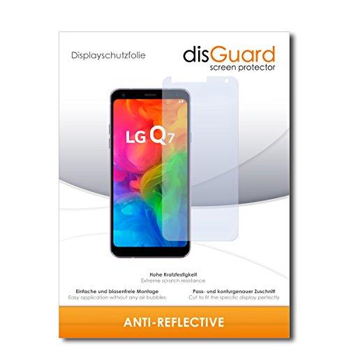 disGuard® Bildschirmschutzfolie [Anti-Reflex] kompatibel mit LG Q7 [3 Stück] Entspiegelnd, Matt, Antireflektierend, Extrem Kratzfest, Anti-Fingerabdruck - Panzerglas Folie, Schutzfolie