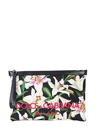Gabbana Leder Handtasche Schwarz (DOLCE E GABBANA Damen Bi1184aa307hnkk8 Schwarz Baumwolle Clutch)