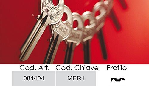Schlüssel Silca Messing meroni-4Spine Rid.D -