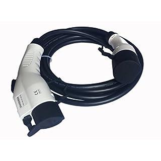 Jekayla EV Ladekabel mit 5 Meter Kabel, Typ 1 - Typ 2, 32A