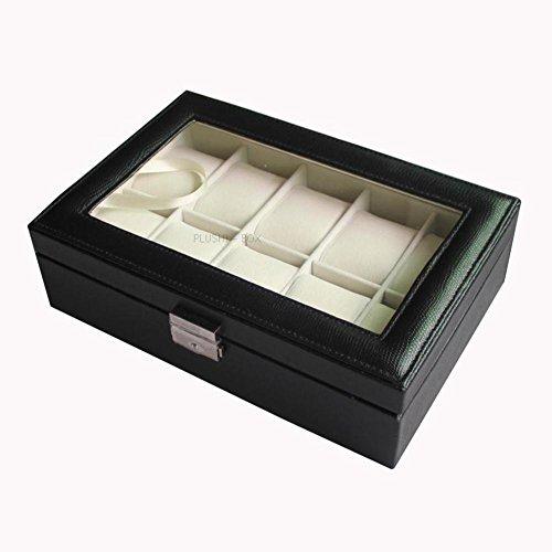 10 pack bella scatola in pelle orologio/ Orologio/ casella di orologio meccanico/ birthday-B