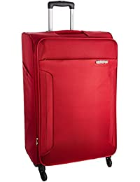 American Tourister Polyester 68 cms Ruby Red Suitcase (AMT Troy SP 68 Ruby RED)