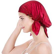 Emmet Gorro de Dormir Mujer 100% Pura Seda Sombrero para Dormir elástico Hace Que tu