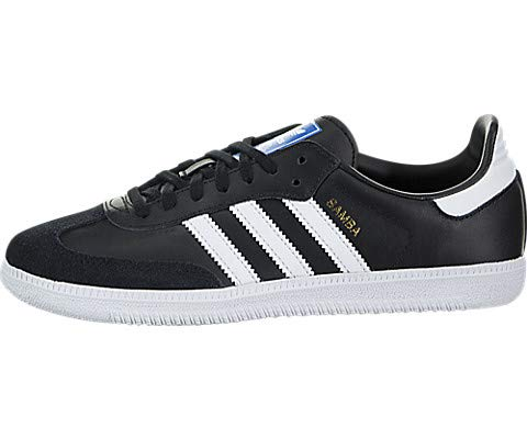 adidas Samba OG J Sneaker (Big Kid),Black/White,4 (Toddler Adidas Sneaker)