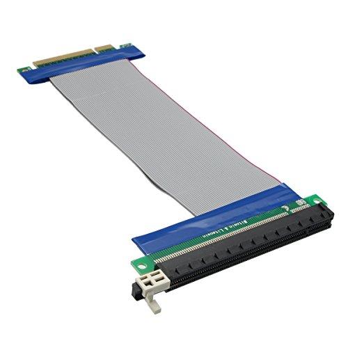 Tutoy 20cm PCI-E Express 8X Bis 16X Verlängerungskabel Flexband