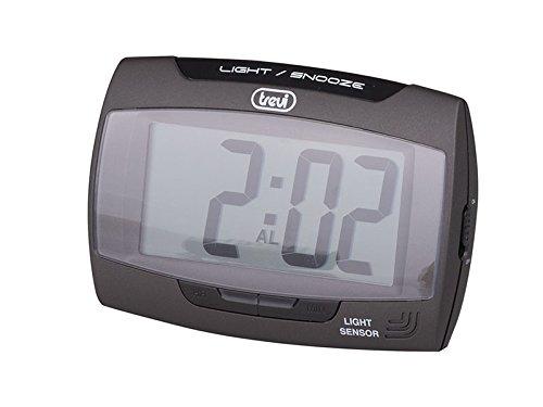 Trevi SLD 3065 - Orologio Digitale con Sveglia e display LCD di grandi dimensioni - Retroilluminazione del quadrante a Led per una perfetta visione notturna - Nero