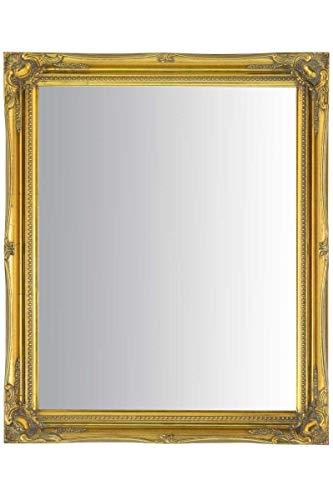 MirrorOutlet Espejo de Pared Grande de 61 x 50 cm, diseño de Ornamento, Color Dorado Envejecido, 61...