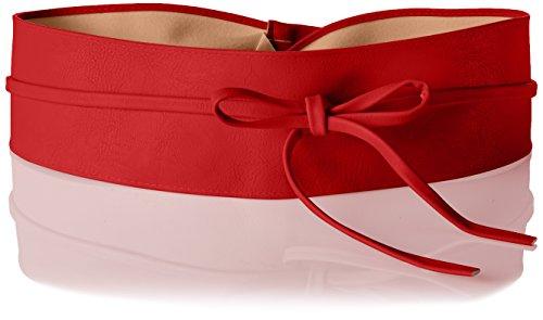 KRISP 14987-RED-OS: Damen Obi Gürtel (Rot)