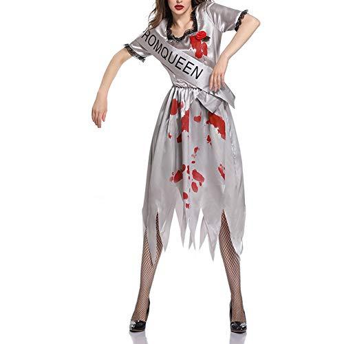 W&TT Halloween-Geister-Braut-Grau-Kleid Zombie-Vampir Cosplay ()