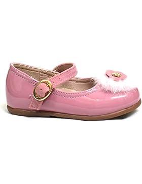 Mercedita infantil de charol Bubble Bobble A1801 color rosa, cierre con hebilla