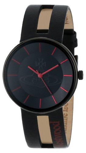 Vivienne Westwood - VV020BKRD - Montre Mixte - Quartz Analogique - Bracelet Cuir Noir