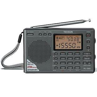 TECSUN PL-380 FM Stereo MW. SW. LW. DSP mit ETM PLL World Band Radio Receiver Weltempfänger + Free USB-Kabel und Antenne LCD Display