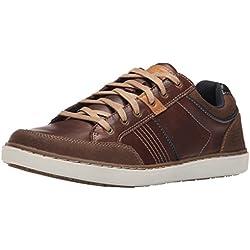 Skechers Lanson-Rometo, Zapatillas de Entrenamiento para Hombre, Marrón (Red/Brown), 43 EU