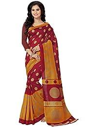 Venisa Women's Cotton Saree With Blouse Piece (Vns1231, Multicolor, Free Size)