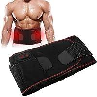 Heizung Massage Gürtel für Abdomen und Rücken, Heizkissen mit Far Infrared Hot Compress und Vibration, Wärmegürtel zum lindern Bauch schmerzen, Rückenwärmer Heizgürtel mit 3 Temperaturstufen(Schwarz)