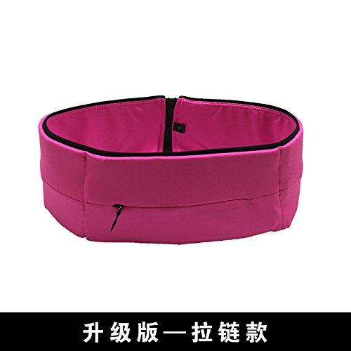 KANG@ Sport Taille Pack Multifunktions Running Männer und Frauen Outdoor Handy Tasche Anti-Diebstahl intime Stealth wasserdicht Beutel Rose Rot