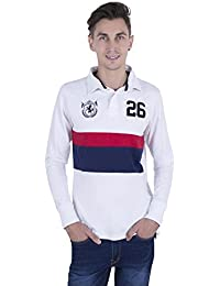 GlamFolio Winter Exclusive Full Sleeve Graphic Printed Men's Rugby Polo Striped Shirt By Rahul Singh