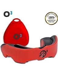 O³ Protector Bucal Boxeo Moldeable - Protector Bucal Rugby Adulto | Protector Dental Boxeo Sin BPA para Deportes De Contacto - Instrucciones Cómo Moldear En Español