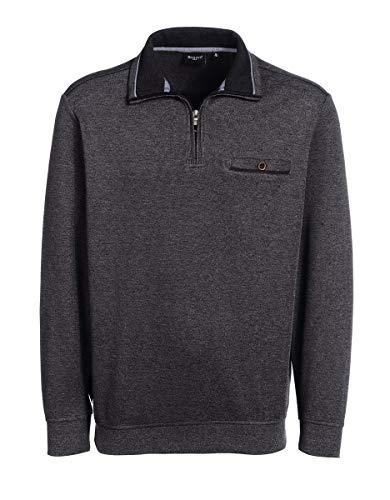 Bexleys by Adler Mode Herren Troyer mit Reißverschluss - Sweater, Pulli, Cardigan, Sweatshirt Grau 2XL 56 (Adler Pullover)